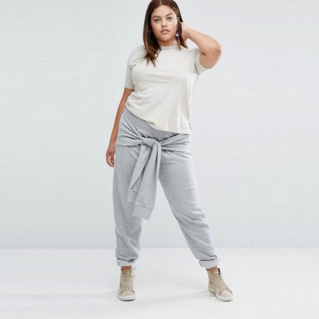 Calças Das Mulheres Calças Moda Casual Streetwear Sólida Arremates Quente Calças Tamanho Maxi Plus Size 3XL 4XL 5XL 6XL
