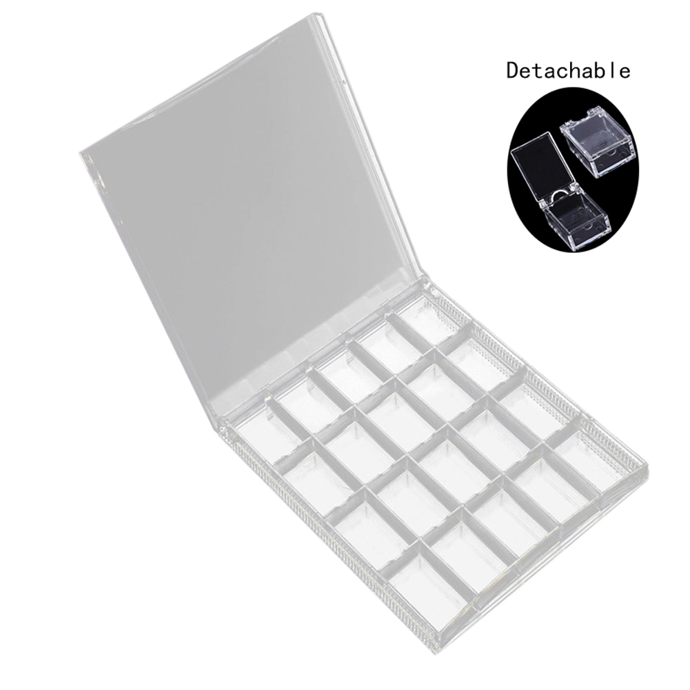 20 Grids Acrylic Nail Art Storage Case DIY Removable Crystal Beads Jewelry Organize Box SSwell