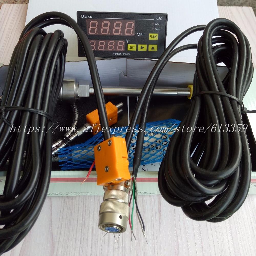 ZHYQ PT124G 123T Melt Pressure Transducer 6 Pins 50Mpa Output 3 33 mV V With Pressure
