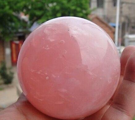 Natural Rosa de Cristal De Quartzo Cura Bola Esfera