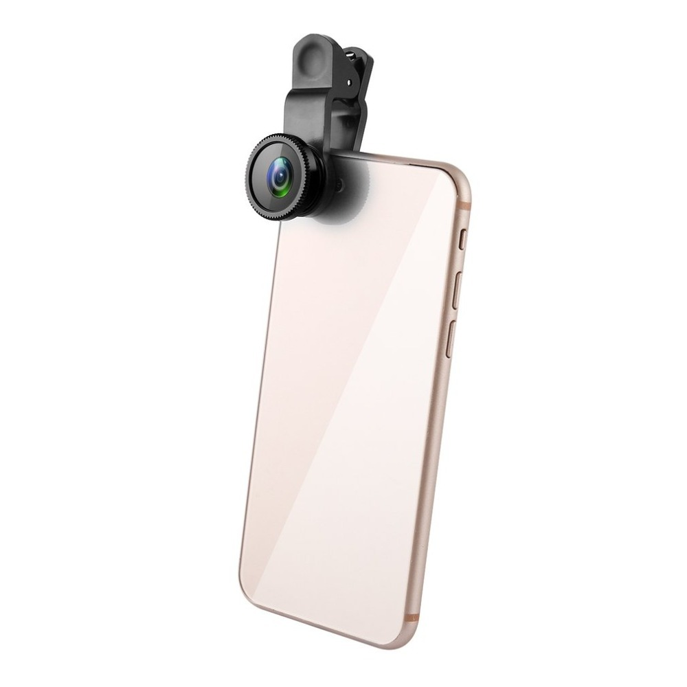 3 in 1 Wide Angle Macro Fisheye Lens for Camera Mobile Phone Portable Parts Universal For iPhone Android Phones drop ship