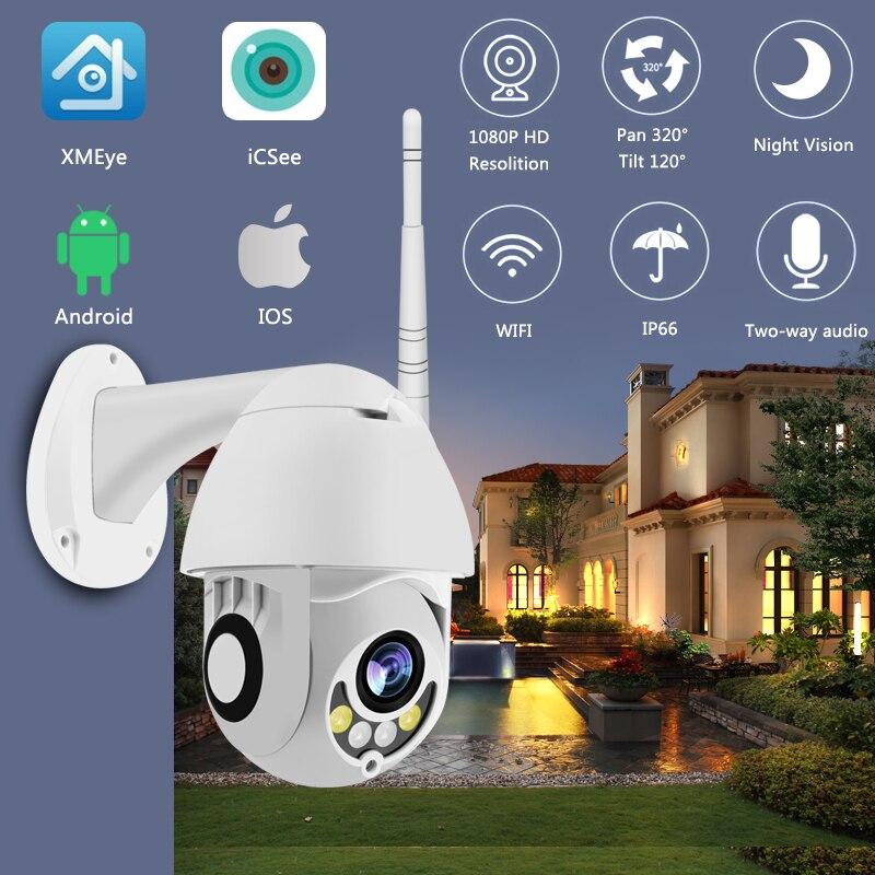 Caméra WIFI extérieure caméra IP PTZ 1080 p dôme de vitesse caméras de sécurité CCTV WIFI extérieur 2MP IR surveillance à domicile