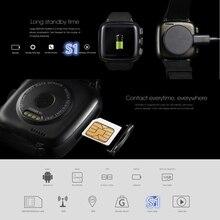 """5ชิ้น/ล็อตDHLฟรีS1 3กรัมหุ่นยนต์4.4โทรศัพท์นาฬิกาสมาร์ทMTK6572 Dual Coreซิม1.54 """"IPS 512เมกะไบต์+ 4กิกะไบต์5MPกล้องอัตราการเต้นหัวใจดูสมาร์ท"""