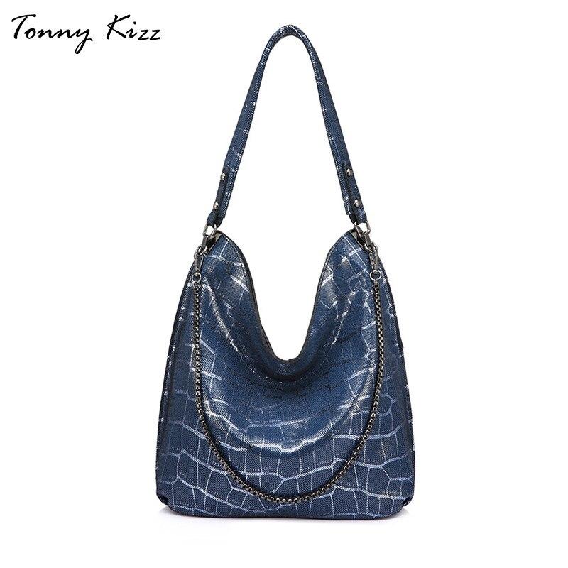 Tonny Kizz luxe handtassen vrouwen tassen designer echt leer vrouwelijke schoudertassen geometrische dames handtassen hoge kwaliteit nieuwe-in Schoudertassen van Bagage & Tassen op  Groep 1