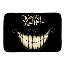 Mad Here Funny Doormat Alice In