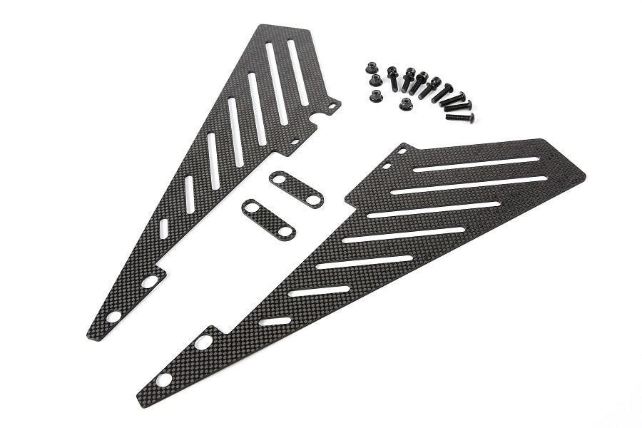 Carbon fiber Side trim panel kit fit for Hpi baja 5B SS ROVAN BAJA 5B king motor carbon fiber plate engine brace kit fits hpi baja 5b ss 5t 5sc rovan