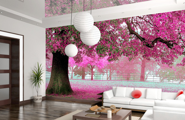 Polyester 3D Background Wall Painting For Home Decoration Width 1M ...