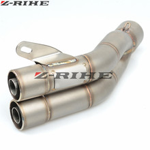 35-51mm Universal Motorcycle Double Exhaust Muffler Pipe toce For Kawasaki honda PCX 125/150 PCX125/150 PCX150 150 all year