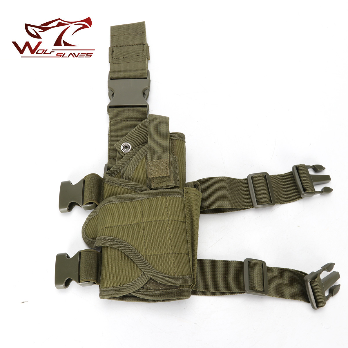 Universal Tactical Pistol Drop Leg Thigh Holster Airsoft w/ Mag Pouch Right Hand with Adjustable Magic Strap Hunting Accessories adjustable quick release plastic tactical puttee thigh leg pistol holster pouch for usp45 black page 1