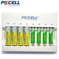 1 Unids * PKCELL 8160 8 ranura LED Cargador de Batería para AA AAA Ni-MH Ni-cd Baterías Recargables Inteligente cargador de LA UE/EE.UU. Plug