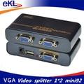 EKL 350MHZ 2 Ports VGA Splitter 1x2 1 input 2 output support usb power adaptor mini size