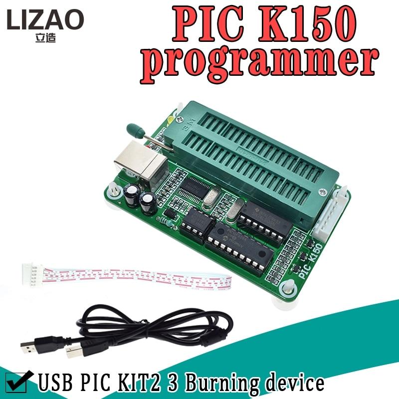 1 SET Pic-mikrocontroller USB Automatische Programmierung Programmierer K150 + ICSP Kabel
