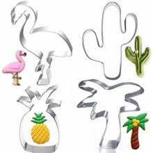 Creative Cookie Cutter Mold Flamingo Pineapple Shape Stainless Steel Biscuit Fondant Cake Moulds Cake Mold Baking kitchen Tools(China)