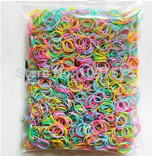 500pcs Girls Hair Bands Small Baby Rubber Band Mix color Hair Rope Ring CJWD103