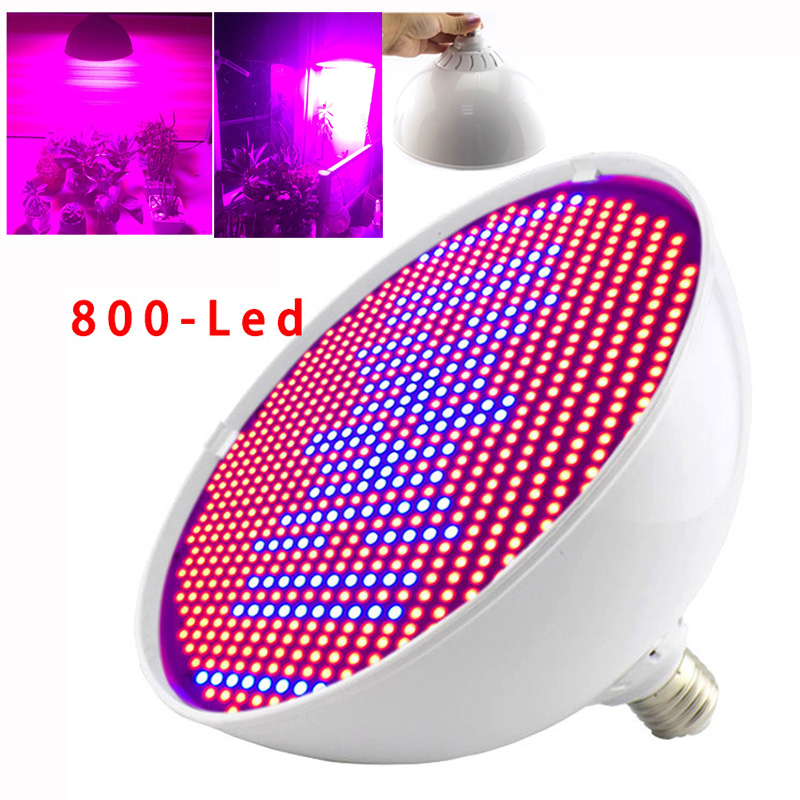 Powerful 800 LED Grow Light Bulbs For Plant Flower Growth Lamp Indoor Greenhouse Seedling Vegetable Growing LED Hydroponics