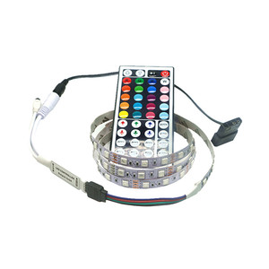 Magnetic RGB LED Strip Light Full Kit for PC Computer Case, SATA power supply interface,Fixed by Magnet,Remote Control Color(China)