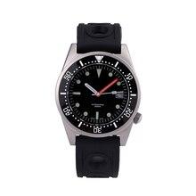 Модные автоматические часы водонепроницаемые часы 200 m diver Мужские с супер светящимися руками и керамическим ободком