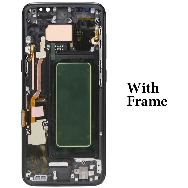 Купить 100% протестированный жк дисплей s8 с рамкой и сенсорным экраном