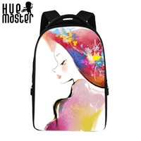 Ladies Pattern Design Large Capacity Laptop Backpacks Women Dedicated Polyester Backpacks Girls Notebook Computer Student Bags