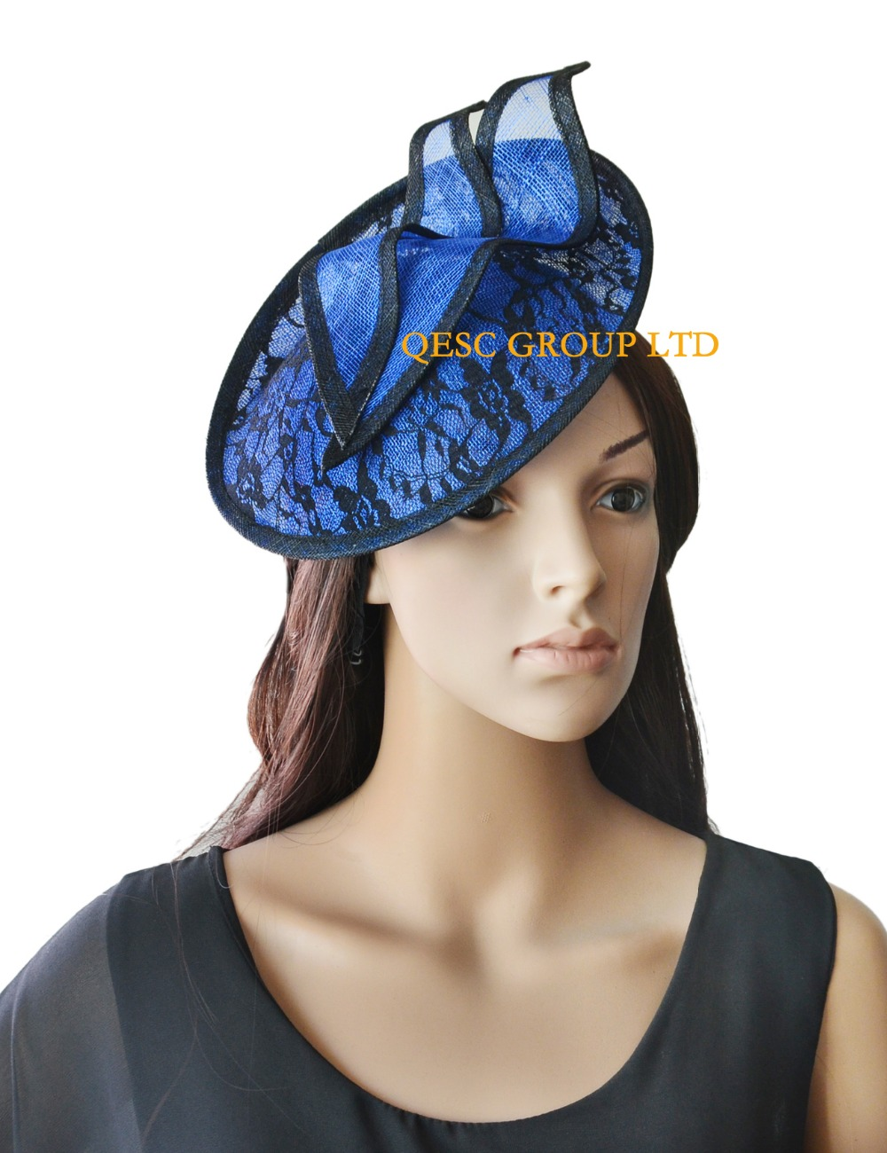 Royal blue black lace fascinator.-in Women s Hair Accessories from Apparel  Accessories on Aliexpress.com  fafa7289ba2