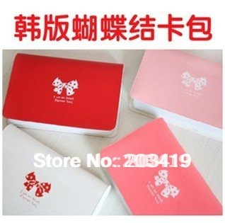 lady's girl New fashion bowknot business bank credit Card team holder bag case cn post