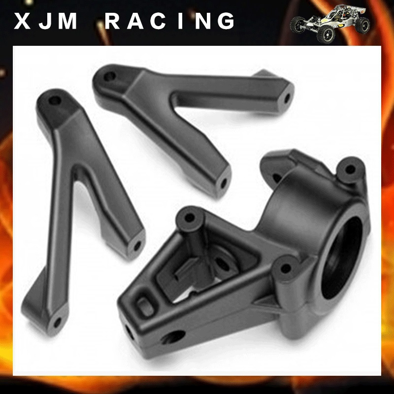1/5 rc car racing parts, Front wheel hub bearing kits fit HPI Rovan KM CY Baja 5b alloy front hub carrier set fit one car for hpi km rovan