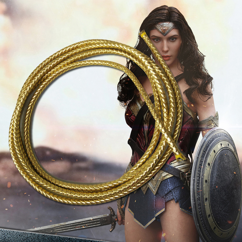 Wonder Woman Lasso Of Truth Princess Diana Cosplay Prop Rope PU Movie Accessories