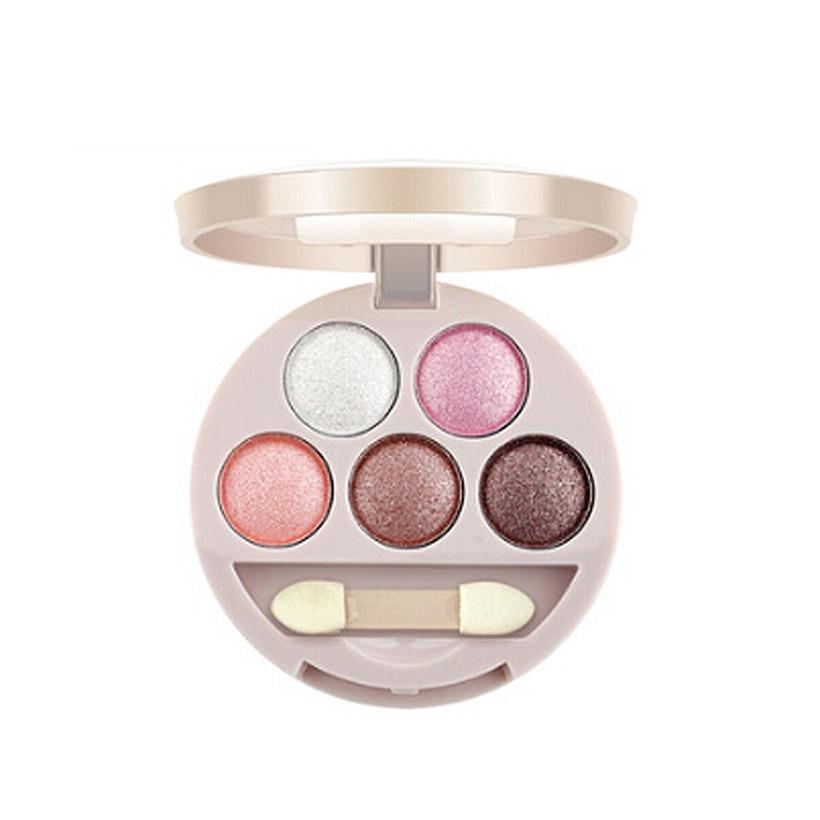 Professional 5-color beauty makeup eye shadow diamond shining eye shadow exquisite cosmetics