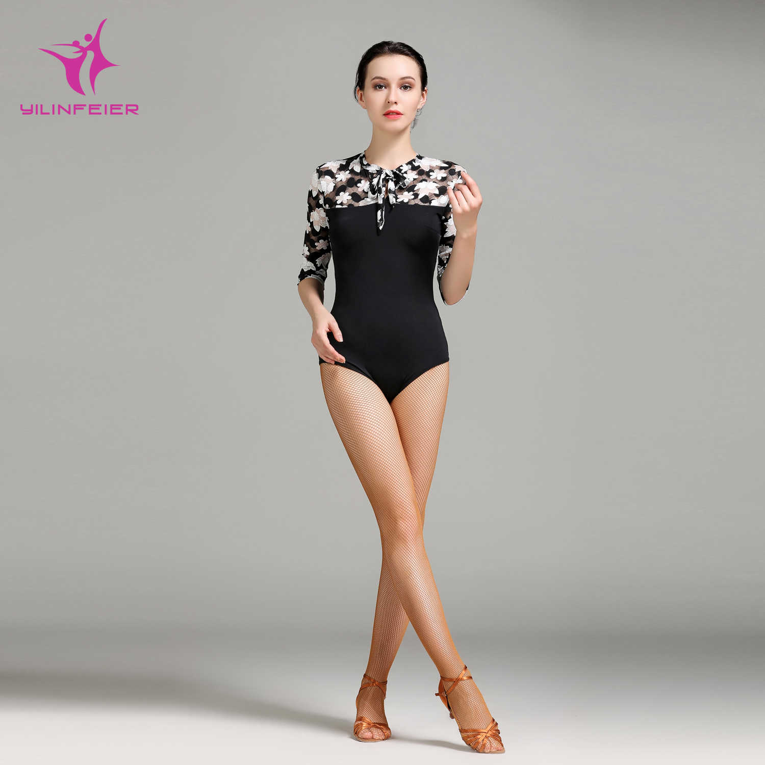 superior quality coupon code new specials YILINFEIER 1709 Latin Modern Dance Top Waltzing Tango Cha Cha Bally  Ballroom Costume Leotard Women Lady Evening Party Dress Top
