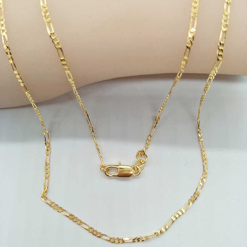 451dea7f7bc48 ... 2019 Fashion Gold Filled Solid Necklace Curb Chains Link Men Choker Stainless  Steel Male Female Accessories ...