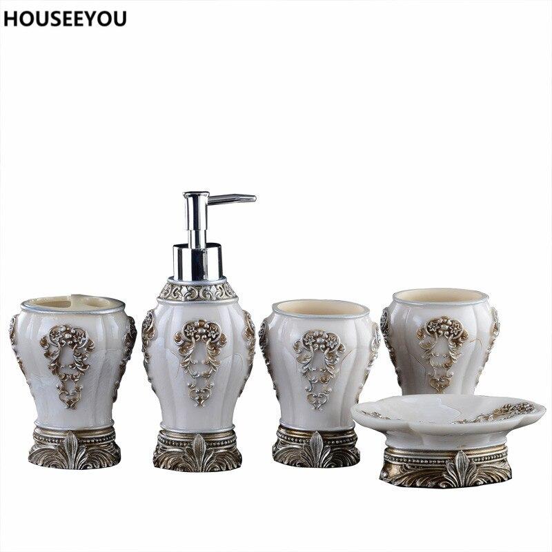 European resin bathroom accessories set bathroom sanitary for Bathroom sanitary accessories