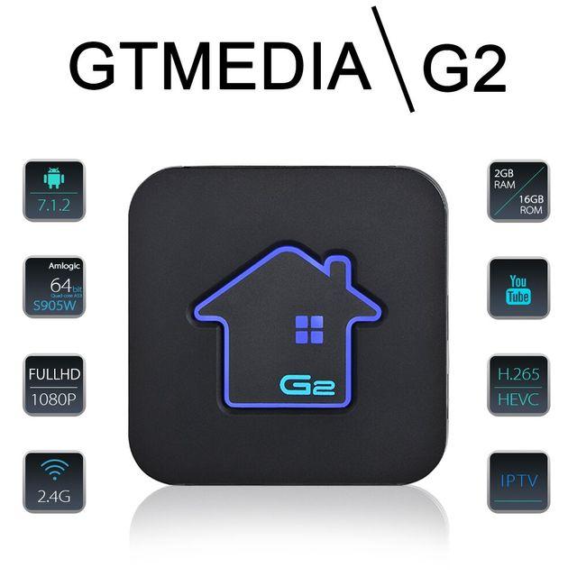 GTmedia G2 Widevine L1 tv box android 7 1, 4K HDR Quad Core 2G 16G WIFI  Google Cast Netflix IPTV Set top Box 4 Media Player IPTV