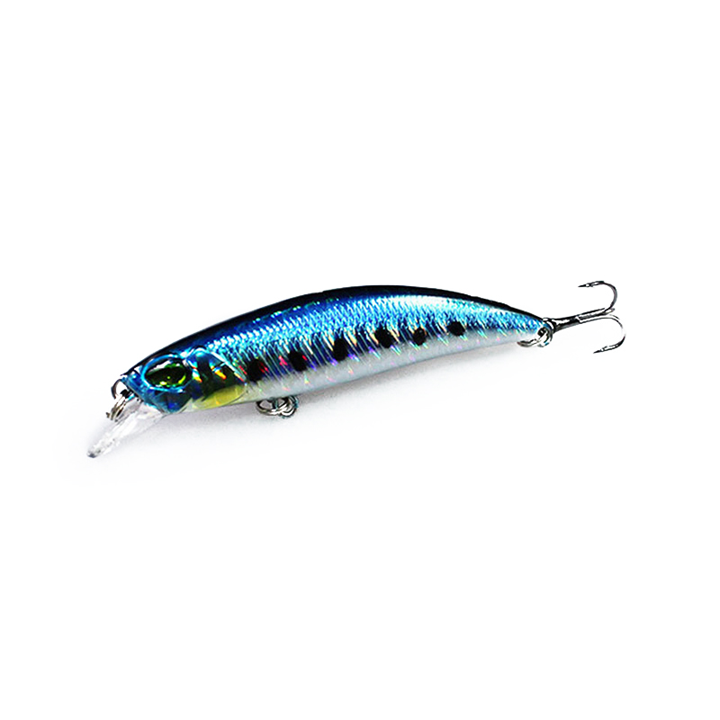 1PCS Flytende Minnow Fishing Lure Laser Hard Kunstig Bait 3D Eyes 6.5cm 4g Fishing Wobblers Crankbait Minnows