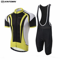 Xintown jaune vélo jersey cuissard set hommes cyclisme vêtements vélo haut bas costume ropa ciclismo maillot vtt chemise blouse