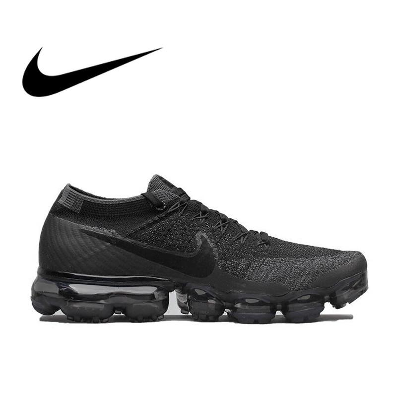 D'origine Nike Air VaporMax Être Vrai Flyknit Respirant Hommes de Chaussures de Course de Sport Officiel Confortable Durable Sneakers En Plein Air