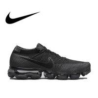 Оригинальный Nike Air VaporMax Be True Flyknit дышащая для мужчин's кроссовки спортивные официальный удобные прочные кроссовки открытый
