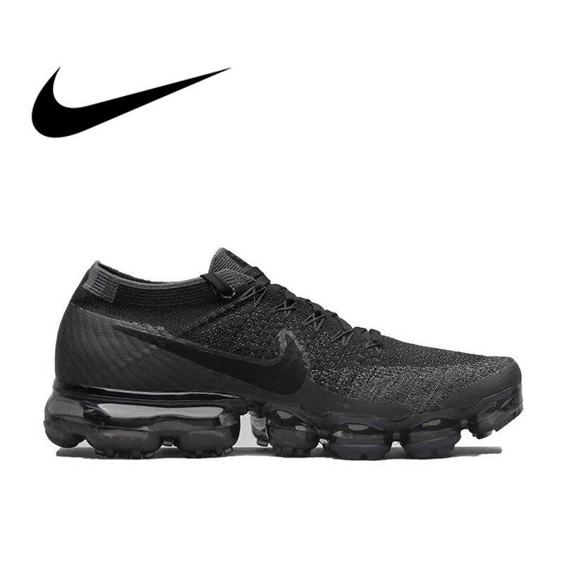 Original Nike aire VaporMax cierto Flyknit de los hombres transpirables zapatos de deportes oficial cómodo Durable zapatillas de deporte al aire libre