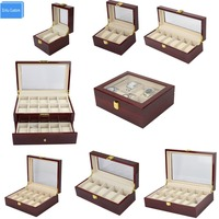 Caixas de madeira de luxo storag expositor 2/3/5/6/10/12/20 relógios caixas de exibição caixa de relógio caixa de jóias caso organizador caixas de promoção|watch box|watch box display|watch display box -