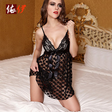 Hot Sale Sex Products Sexy Costumes Women Underwear Lady Lingerie Transparent Conjoined Dress Suit Leotard Intimates B020