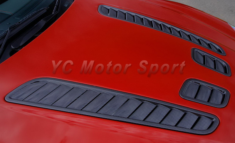 Car Accessories Dry Carbon Fiber OEM Style Hood Vent 4pcs Fit For 2006-2015 Aston Martin ...