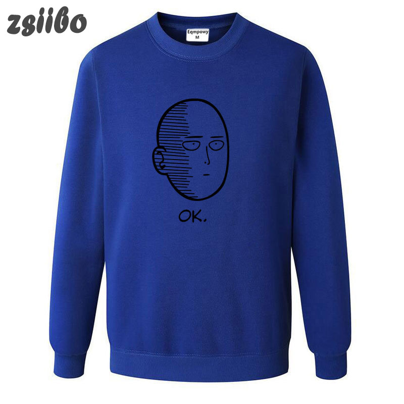 ONE PUNCH MAN New comic Spoof print couple round neck Casual Hip Hop Hoodies Long Sleeve Traksuit Fleece Pullover Hoody WGWY13 in Hoodies amp Sweatshirts from Men 39 s Clothing