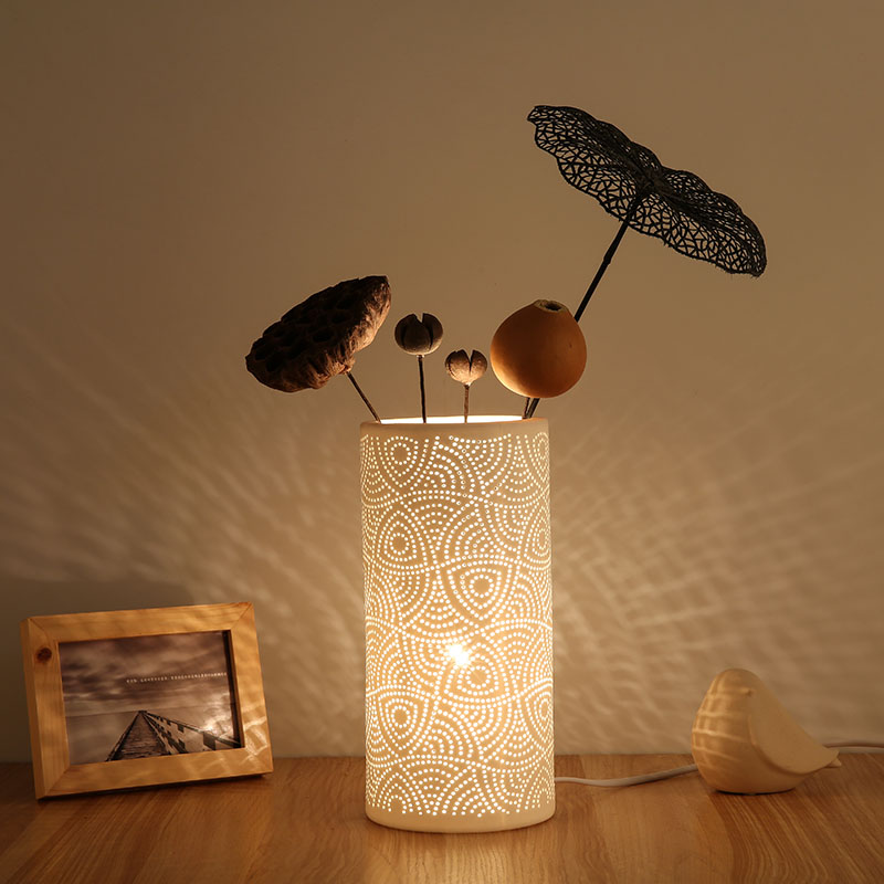 Creative DIY <font><b>Ceramic</b></font> <font><b>Table</b></font> <font><b>Lamps</b></font> Bedroom TableLamp Modern Art Reading Light Decorative Lights Led <font><b>Lamp</b></font> <font><b>Table</b></font> E27 220V <font><b>Base</b></font> image