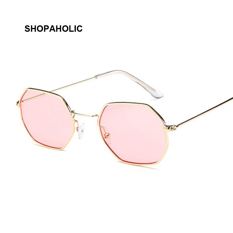 6e72c9deb66f12 Mode lunettes de Soleil Femmes Marque Designer Petit Cadre Polygone  Objectif Clair lunettes de Soleil Hommes