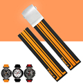 AOTU 21mm Crude Latex Rubber Watch Band Strap Bracelet for T-race T-sport T048 Series Watch T048.417.27.057.01 + Free TOOLS