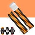 Aotu 21mm crude látex de borracha faixa de relógio pulseira strap para t-série relógio de corrida t-esporte t048 t048.417.27.057.01 + ferramentas gratuitas