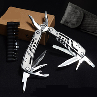 MAXDICC Knife Multi Tool Plier EDC Ganzo Tools Folding Plier Multitools Fishing Plier 26 in 1 Multifunction Tungsten Cutter