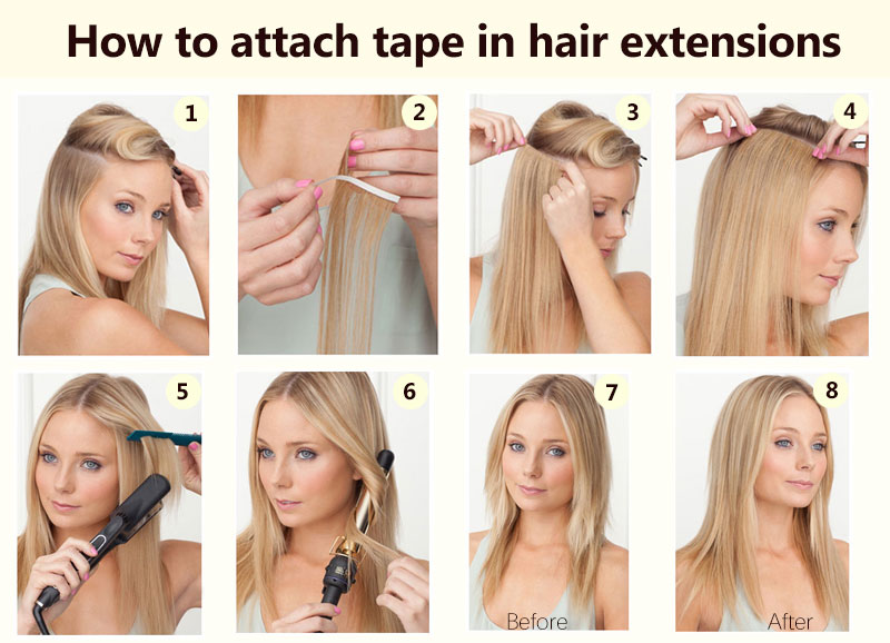 Water Wave Tape Hair Extensions Indian Remy Tape Hair Extensions