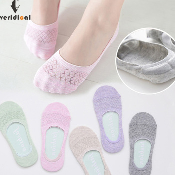 invisible mesh Silicone breathable seamless Sock Slippers