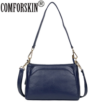 COMFORSKIN Premium 100%  Cowhide Leather Messenger Bags 2018 Brand Designer Big Capacity Women Cross-body Bags Bolsas Feminina comforskin brand premium 100