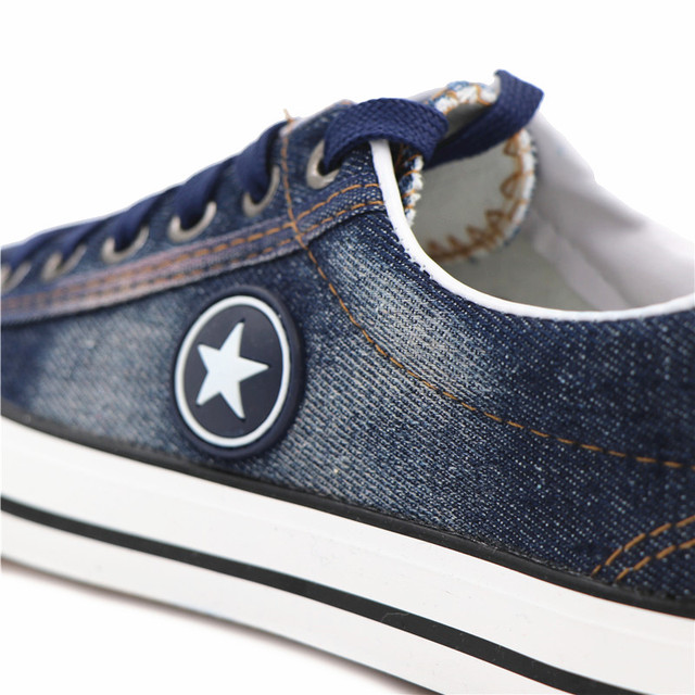 Fashion Women Sneakers Denim Casual Shoes Female Summer Canvas Shoes Trainers Lace Up Ladies Basket femme Stars tenis feminino 4